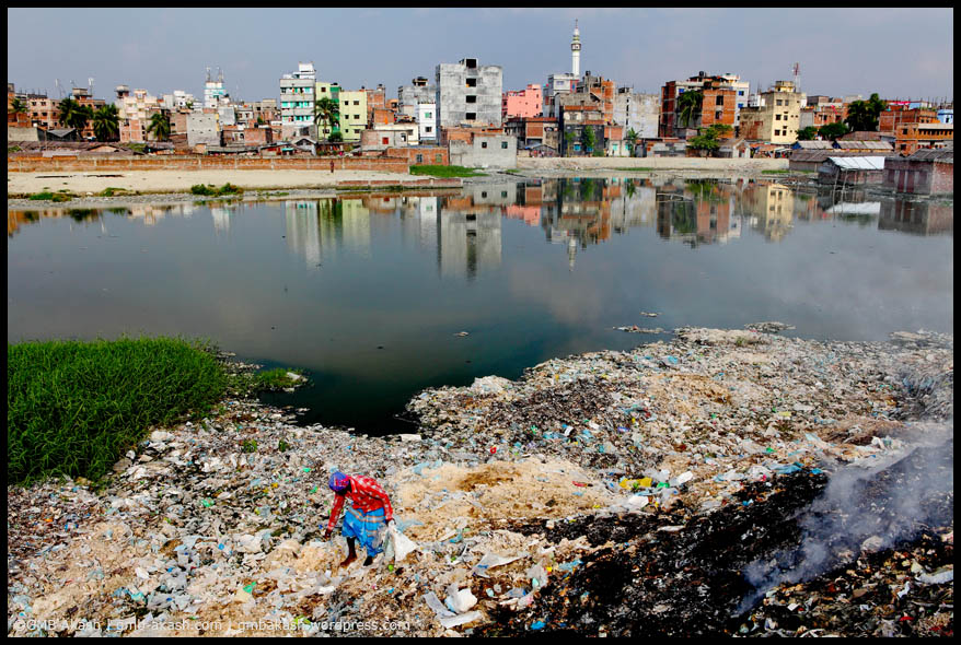 increasing pollution of rivers Look at any ecosystem and there could be multiple forms of contamination— streams full of toxic chemicals from industrial processes, rivers overloaded with nutrients from farms, trash blowing away from landfills, city skies covered in smog even landscapes that appear pristine can experience the effects of pollution sources.