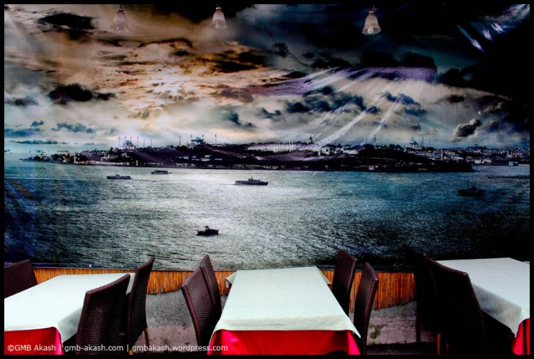 Inside a local restaurant of Istanbul