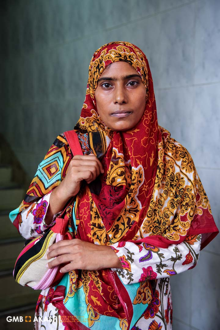 'As a NGO worker I have to travel a lot in public transport and sometime I come to home at late night. My hijab is my protection. It's been 6-7 years I am covering myself as I had bitter experience of street harassment. Men used to look at women as if they are raping through eyes. As a woman I felt vulnerable and weak tough I used to wear modest cloth. But I have to confess from the day I started wearing Hijab men started to look at me less. I felt strong from inside' – Siuly, NGO worker